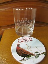The Famous Grouse Glass Whisky  Spirit Tumbler  Plus Coaster Unused Ideal Gift