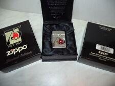 ZIPPO LIGHTER 75 ANNIVERSARY LIMITED EDITION 1 OF 500 PCS SWAROVSKI RARE NEW