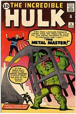 The Incredible Hulk v1 6 Marvel Comics USA 1963 Lee Ditko Metal Master VF- (7.5)