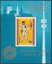 MONGOLIE BLOC N°29** Bf  JO Munich Tir à l'Arc, 1972 MONGOLIA C32 Archery MNH