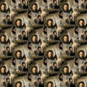 Lord of the Rings Return of the King Faces Text Quilting Fabric 1/2 yard