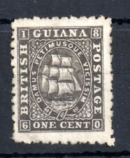 British Guiana 1862 1c black mint no gum SC#24 WS12956