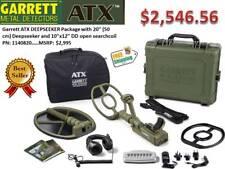 GARRETT ATX DEEPSEEKER TWO COIL METAL DETECTOR PACKAGE - FREE SHIPPING