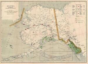 1915 U.S. Geological Survey Map of Alaska