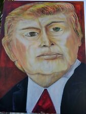 """Original 45 x 36 Trump Acrylic on Canvas titled """"Pushing Towards the Vision"""""""