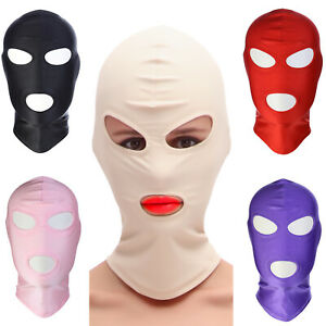Unisex Hood Full Face Head Mask with Open Eyes Mouth Halloween Cosplay Costume
