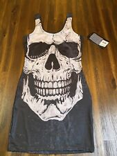 Affliction Skully Mini Dress Sm