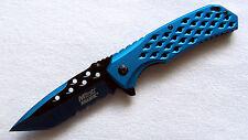 Ballistic Lochdesign Taschenmesser blau Pocket Knife