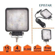 """Magnetic Base 15W 4"""" Square LED Work Light Flood Lamp Truck Fog 1PCS 12V 24V UTE"""