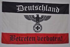 FAHNE FLAGGE DR 4506 SCHWARZ WEISS ROT DEUTSCHLAND BETRETEN VERBOTEN SAMMLER