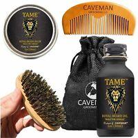 Beard Oil Growth Kit for Men - Tame Grooms Beard & Mustache - Boosts Hair Growth