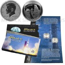 2019 Apollo 11 50th Anniversary Half Dollar 2 Coin Set OGP Enhanced Kennedy