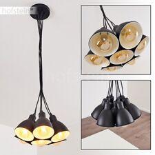 schwarze Hänge Lampen Ess Wohn Schlaf Zimmer Beleuchtung Retro Pendel Leuchten
