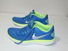 76308028669a4 Nike Women s Running Shoes US 8.5 Flex RN Mesh Performance Sneakers Blue  Green