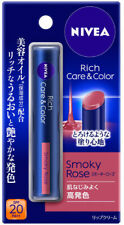 Kao NIVEA Rich Care & Color Lip cream Stick SPF20 PA++ Smokey Rose Japan