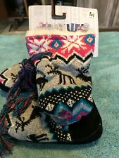 Womans Muk Luks tall Slippers Size 6.5 to 7.5 Warm fuzzy inside