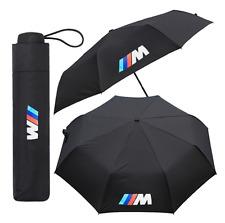 Nuevo BMW M Sport Paraguas Coche Negro Plegable Gran Calidad Brolly Regalo De Invierno