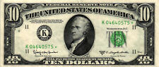 1950-D $10.00 Federal Reserve Star Note - Dallas - FR#2014-K* K04640575* - XF