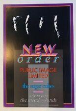 New Order Concert Poster Public Image Limited 1989 NJ