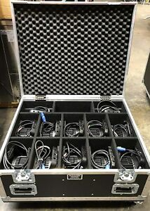 Elation Sixpar 100, Case of 12 Lights with Wheeled Road Case