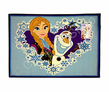 Genuine Disney Frozen Large Area Rug Anna Olaf Heart Blue 100x137cm 40x54in