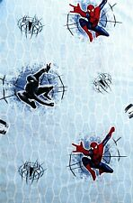Spider-Man 3 Twin Size Flat Sheet Cotton Blend 2007 Columbia Fabric Crafts 18389
