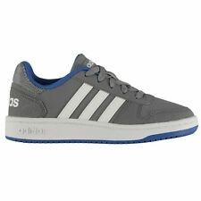 adidas Kids Boys Hoops Junior Trainers Suede Lace Up Sports Shoes Low Top