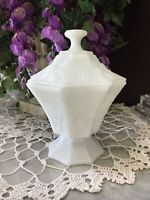 Milk Glass Candy Dish with Lid - Vintage Anchor Hocking