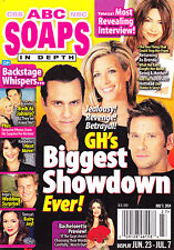 ABC Soaps In Depth Magazine - July 7, 2014 - Roger Howarth, Vanessa Marcil