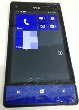 HTC 8XT Violet Sprint Windows Smartphone Cracked Glass Power up OK