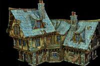 Coaching Inn - Wargame / Warhammer / Railway Model Scenary for tabletop painted