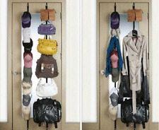 Over Door Straps Hanger 8 Hooks Adjustable Hat Bag Clothes Coat Rack Organizer