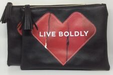 Set of 2 Makeup is Art Live Boldly Maybelline kiss bags - Black - NEW - FS!