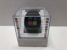 NIB iTouch Smart Watch Android & iOS Compatibility Silver Black Back Free S&H