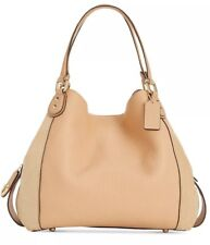 7f4e221394e35 New COACH Edie Shoulder Bag 42 in Mixed Leather suede Beechwood snap 20334