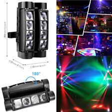 US Spider Moving Head Stage Lighting Beam DMX Disco Party DJ Light 80W RGBW 8LED