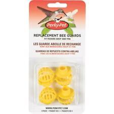 Perky-Pet Yellow Plastic Hummingbird Feeder Replacement Bee Guard (4-Pack) 205Y