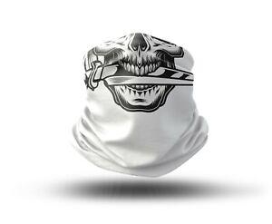 Washable Fabric Face Cover Neck Gaiter Skull Head Design IV EU Made