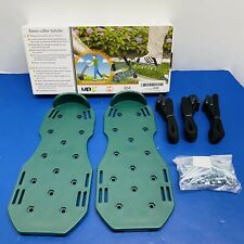 Lawn Treatment Aerator Shoes Spiked Shoes Galvanize Steel Nails Metal-Miss Strap