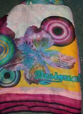 Womens Desigual Multicolour patterned shawl Scarf beach wrap I love your smile