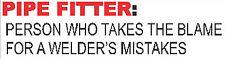 HARD HAT STICKER, PIPE FITTER DEFFENITION, STICKER CP-24