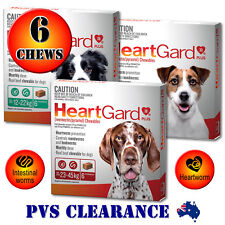 Heartgard Plus for Dogs 6 Chews All Sizes Blue, Green, Brown - Heartguard 6 Pack