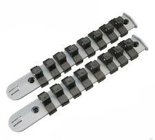 """Prise 2pc de Stockage Titulaire Organisateur Plastique Rails 1//4/"""" Drive Sockets 18 clips"""