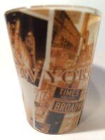 NEW YORK SEPIA SHOT GLASS SHOTGLASS