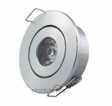 LED Ceiling Down Light 1W Cabinet Undershelf Adjustable Tilt Downlight New