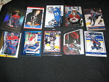 LOT (10) PATRICK ROY NHL STAR LEGEND AUTHENTIC VINTAGE HOCKEY CARDS NICE!!!