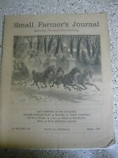 SMALL FARMER'S JOURNAL WINTER 1993 VOL 17 #1 WOLVES TREES WOODLOTS APPLES PEARS