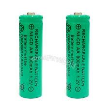 2 x AA 900mAh Ni-Cd NICD Ni-Cad 1.2V rechargeable battery cell/RC Green US Stock