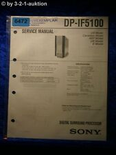 Sony Service Manual DP IF5100 Digital Surround Processor  (#6472)