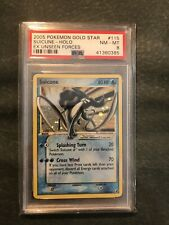 Pokemon Suicune Gold Star PSA 8 NM-M | EX Unseen Forces 115/115